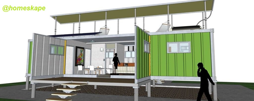H meskape shipping container home homeskape green series - Container homes for sale in usa ...
