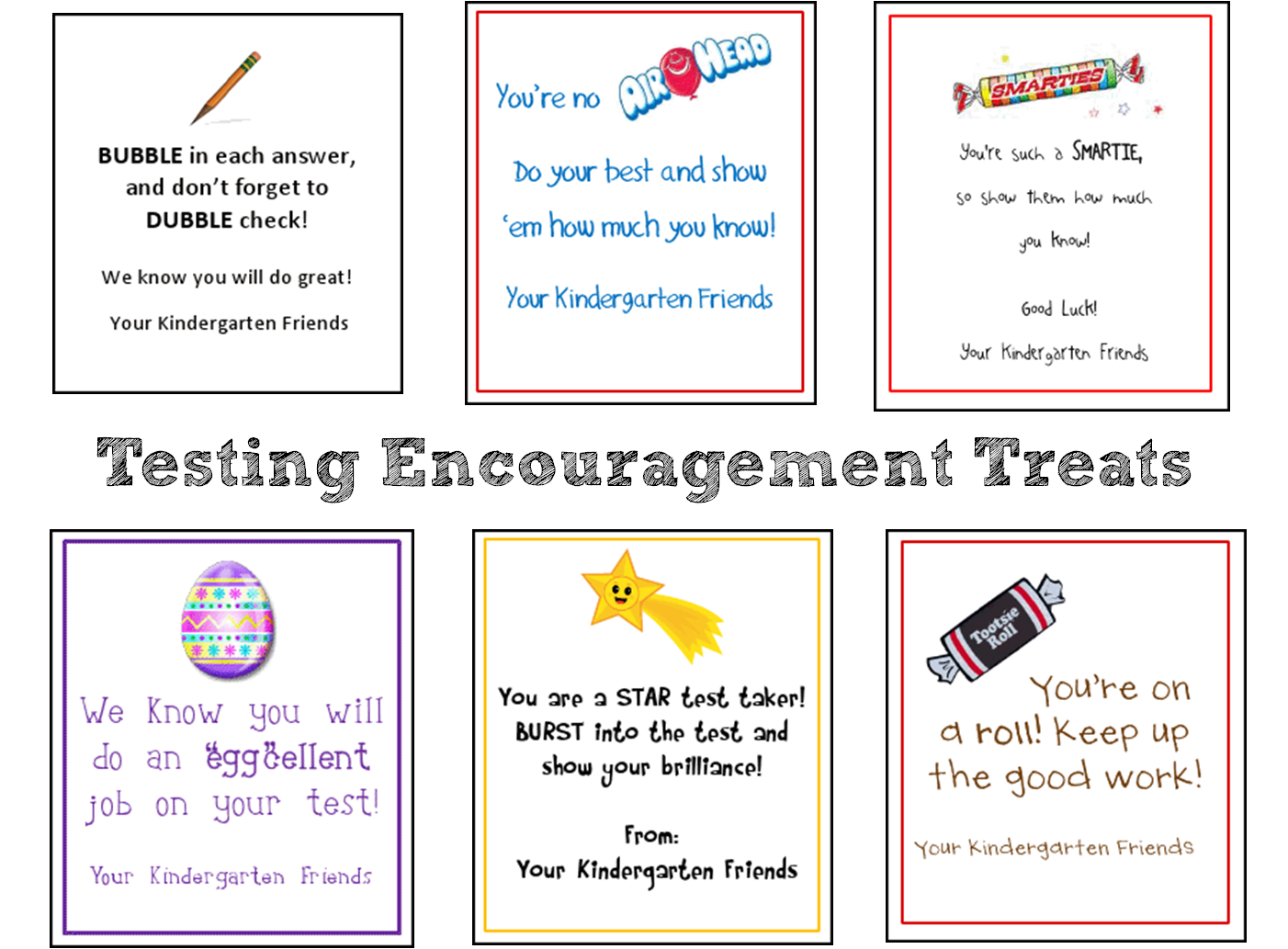 Encouraging Quotes For Elementray Students Taking Tests
