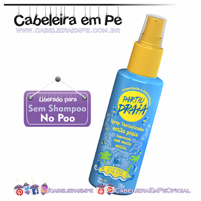 Spray Texturizador Partiu Praia - Sou Dessas (Liberado para No Poo)