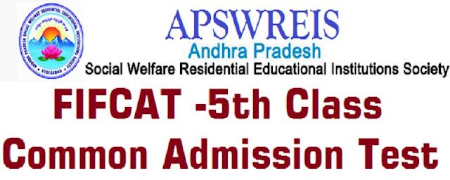 APSWREIS,5th Class,Entrance Test,FIFCAT