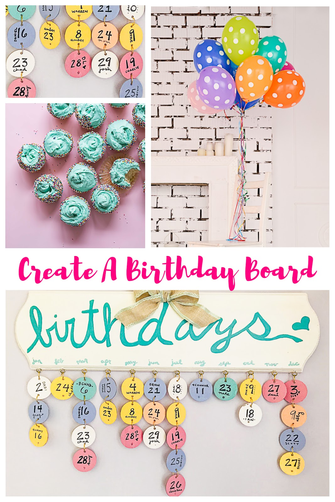 Birthday board tutorial, wood birthday calendar, balloons, celebrating birthdays, birthday calendar,
