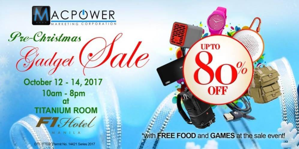 Macpower Early Christmas Sale Happening This October 12-14; Get Up To 80% Discounts