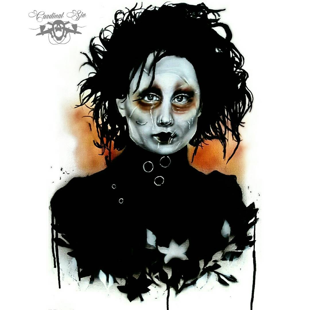 08-Edward-Scissorhands-Johnny-Depp-Courtney-Georghiou-Art-Drawn-and-Airbrushed-and-Painted-in-an-Eclectic-Mix-www-designstack-co