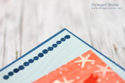 Stampinup Seaside Shore; Match the Sketch; Stempel Recklinghausen; Bastelworkshops Recklinghausen; Sommerliche Grußkarte, Stempelset mit Fische