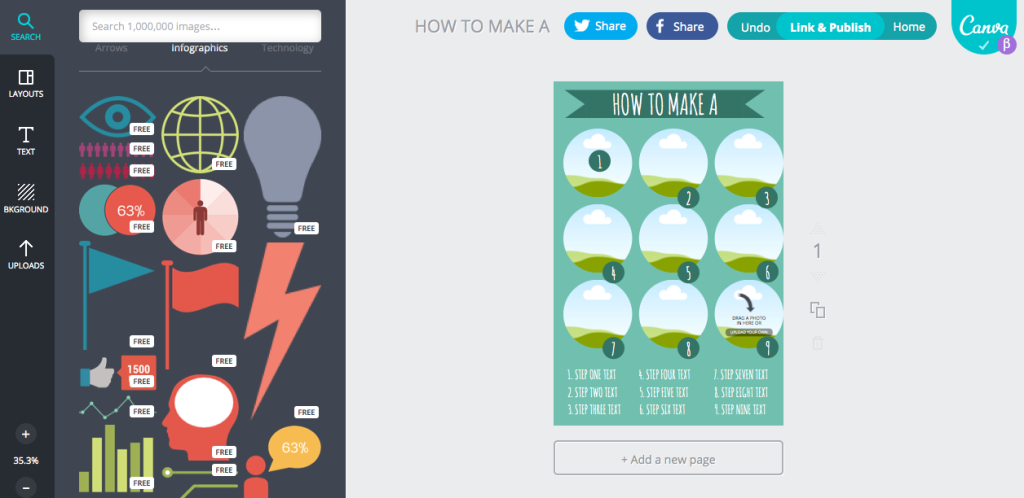 Infographics templates for free