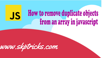 How to remove duplicate objects from an array in javascript