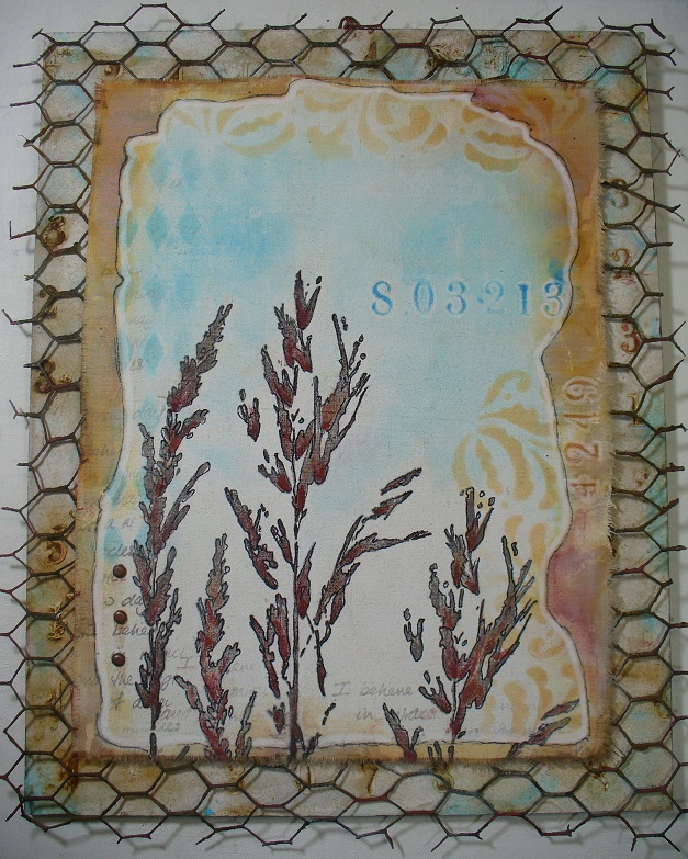 PaperArtsy: 2017 #16 Rust: Gorgeous Foliage with ELB {by Ellie Knol}