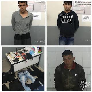 Em Campina Grande, policia prende 3 acusados e evita roubo de diversas mercadorias em Supermercado