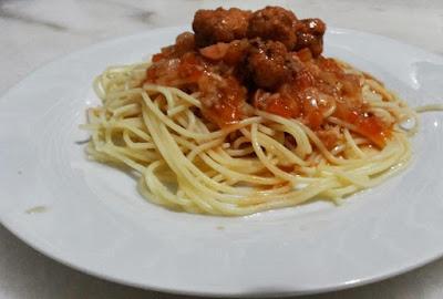 Foto Resep Ikan Bungkus Tepung Saus Tomat Pasta Fettucini/Spaghetti