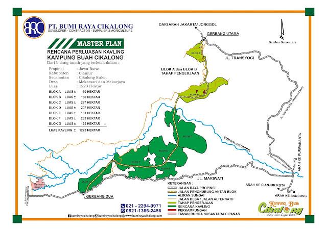 rencana perluasan lahan di properti syariah cluster bukit hijau kampung buah cikalong