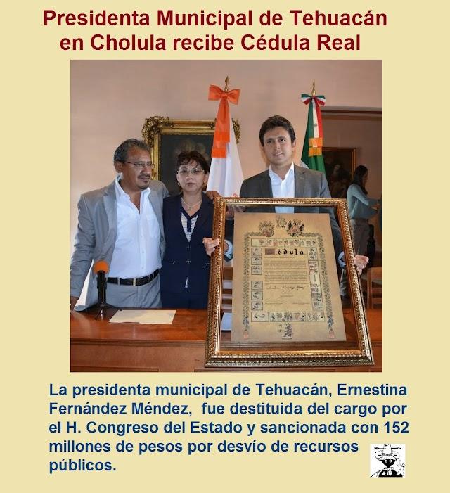 Destituyen a presidenta de Tehuacán
