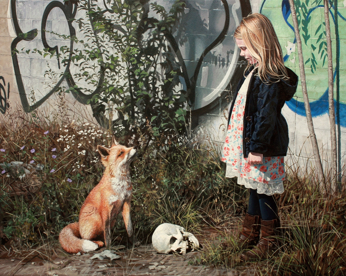 03-Fossil-Kevin-Peterson-Children-Exploring-Hyper-Realistic-Paintings-www-designstack-co