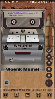 Download BBM Mod MANUAL ALA WM Theme versi 3.3.1.24 Apk terbaru For Android Update Clone & Unclone