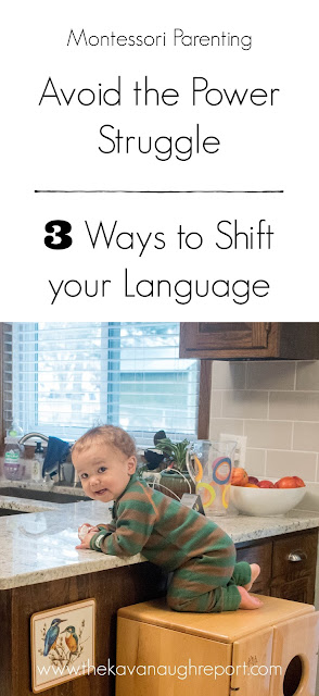Three ways to shift your language during difficult moments with your kids to avoid power struggles.
