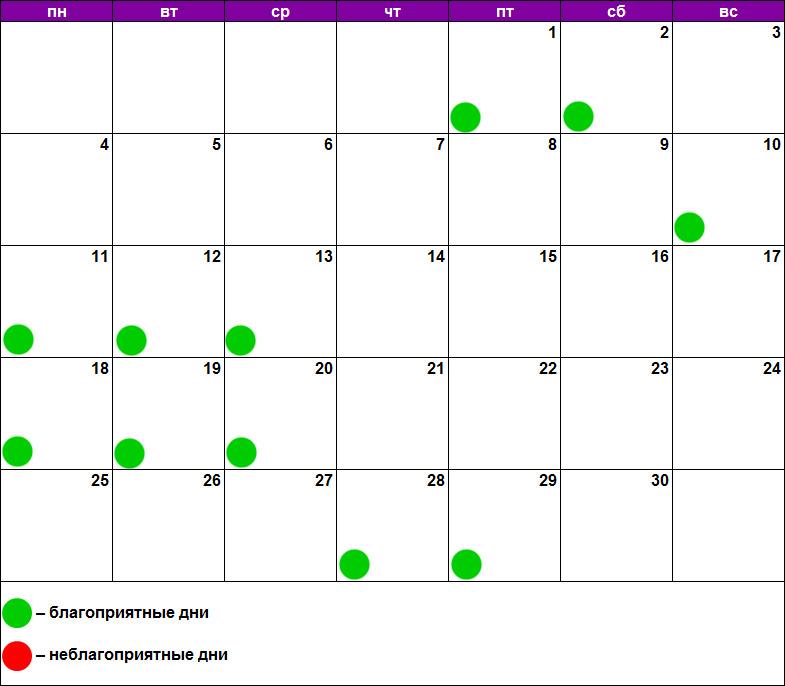 Лунный календарь массажа июнь 2018