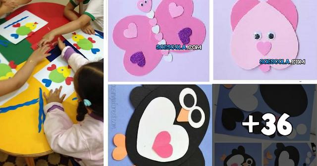 Confira nesta postagem 40 ideias de artes para se fazer usando moldes de coração.