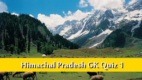 Himachal Pradesh Gk Quiz Online MCQ-1