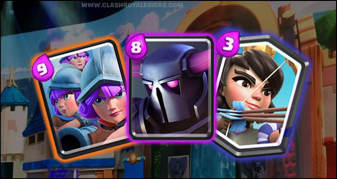 Deck de tr s mosqueteiras pekka e princesa arena 7 e 8 for Deck pekka arene 7