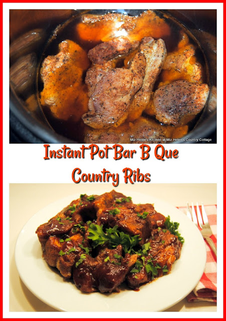Instant Pot Bar B Que Country Ribs at Miz Helen's Country Cottage