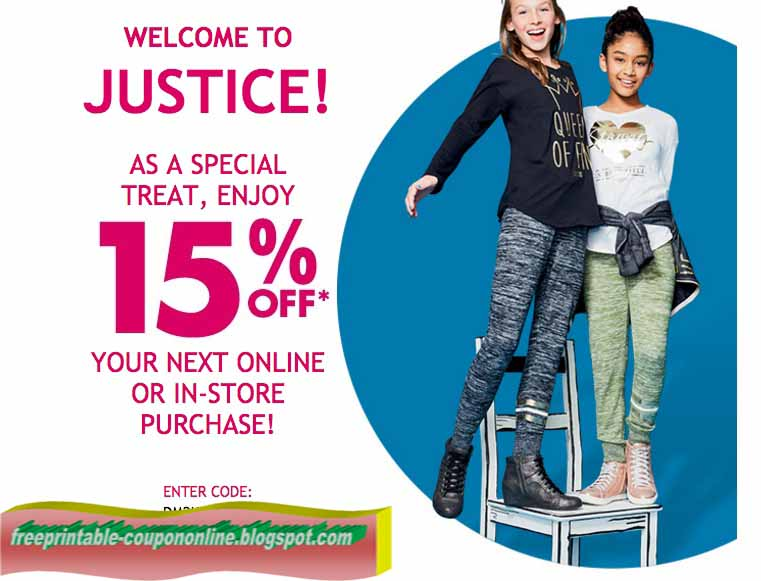 Justice printable coupons october 2018