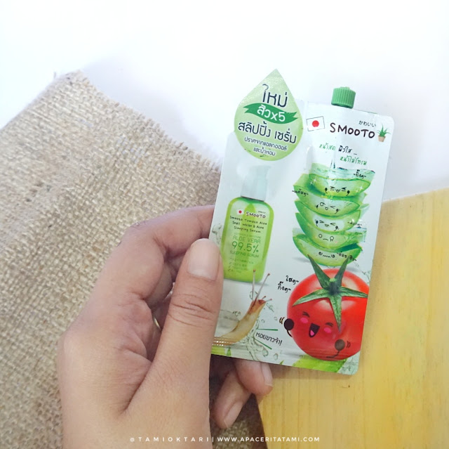 [REVIEW] Smooto Tomato Aloe Snail White & Acne Sleeping Serum