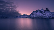 Purple shade mountains nature wallpaper