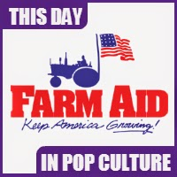 The first Farm Aid concert was held on September 22, 1985.
