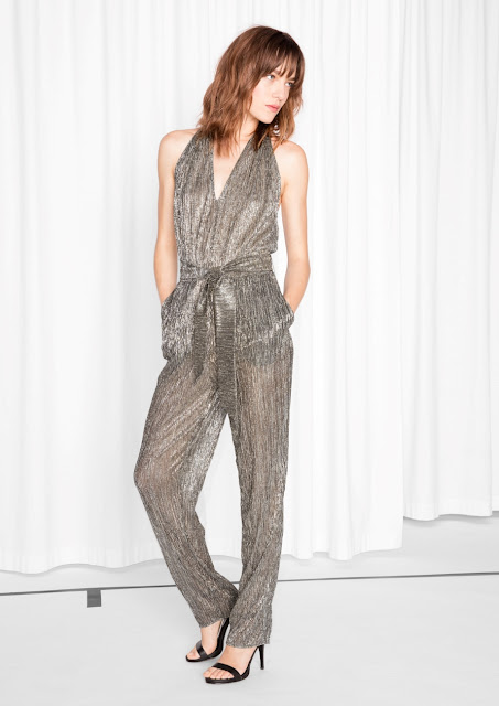 Metallic jumpsuit & other stories