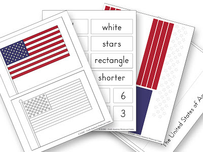 photo relating to Flag Day Printable Activities called Montessori Flag Designing and Counting Things to do for The