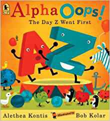 Alpha Oops backward slpahbet book