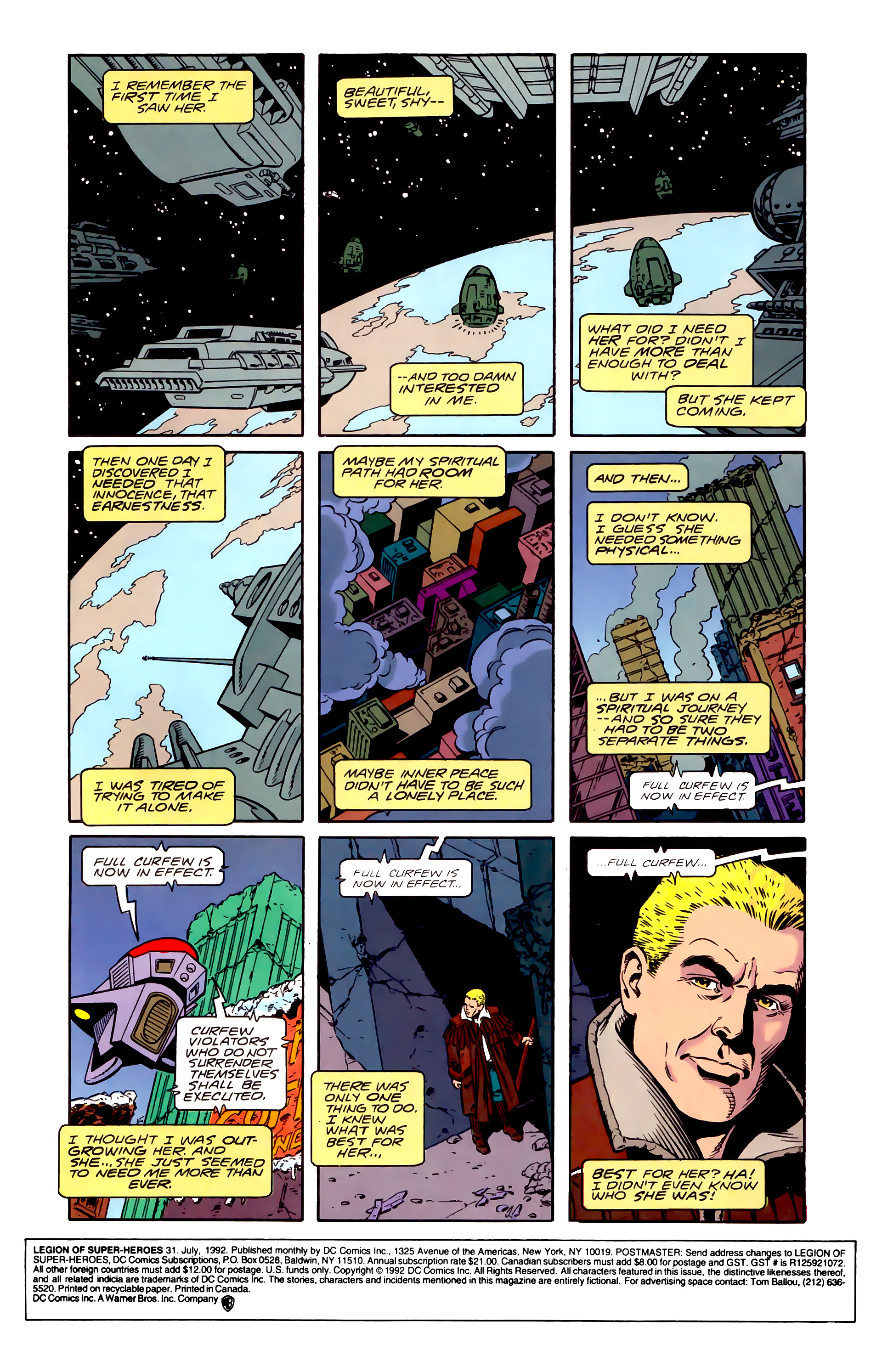 Legion of Super-Heroes (1989) 31 Page 1