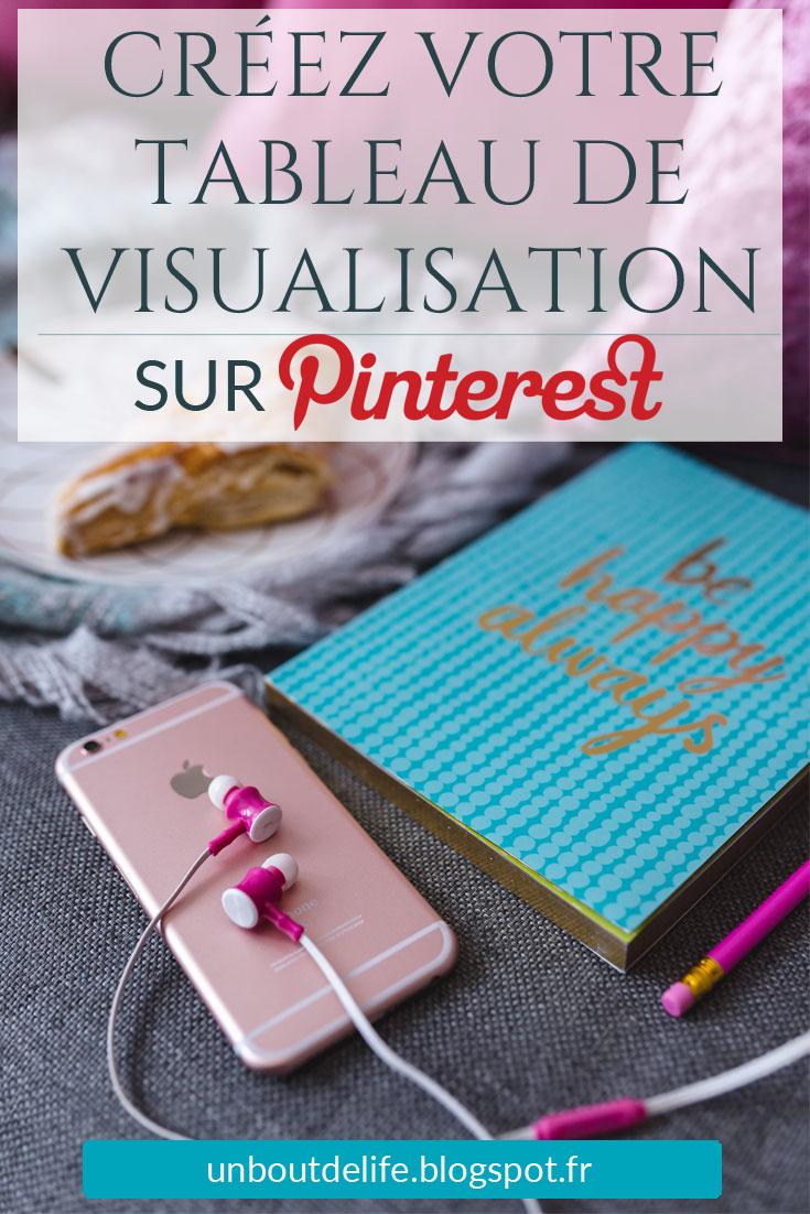 Créer un tableau de visualisation sur Pinterest - Un Bout de Life le blog