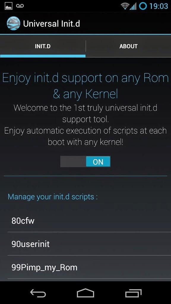 Cara mengaktifkan folder init.d pada android
