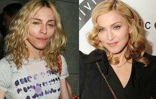maquilhagem+antes+e+dp+Madona+9 - Famosas Antes e Depois da Maquilhagem