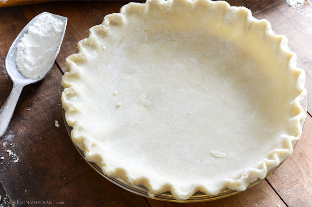 I believe that I may have found the best recipe yet for pie crust.  It is fairly simple to make, rolls out nicely, and makes more than enough dough for two 9-inch pie crusts.  |  www.andersonandgrant.com