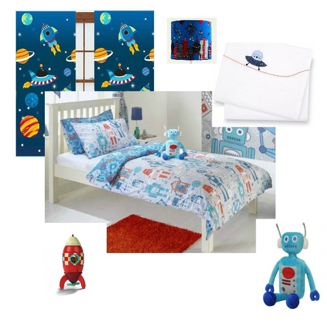 toddler-bedroom-wishlist-collage-curtains-duvet-cover-robot-and-rocket-toy-space-ship-sheets-rocket-lampshade