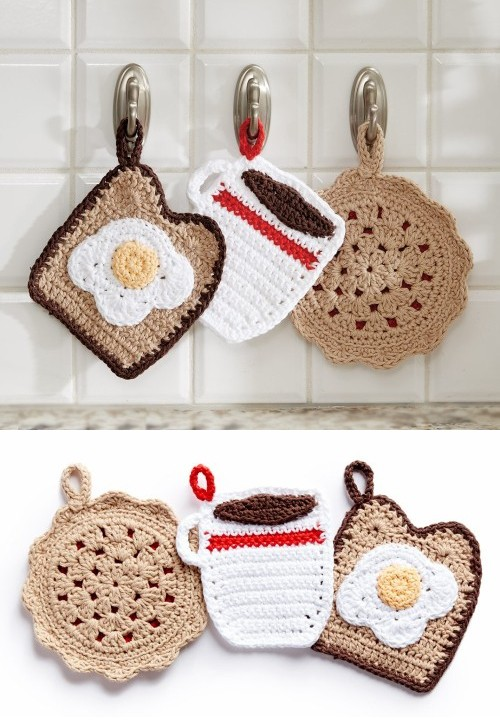 Pot Holder Dinner Trio - Free Pattern