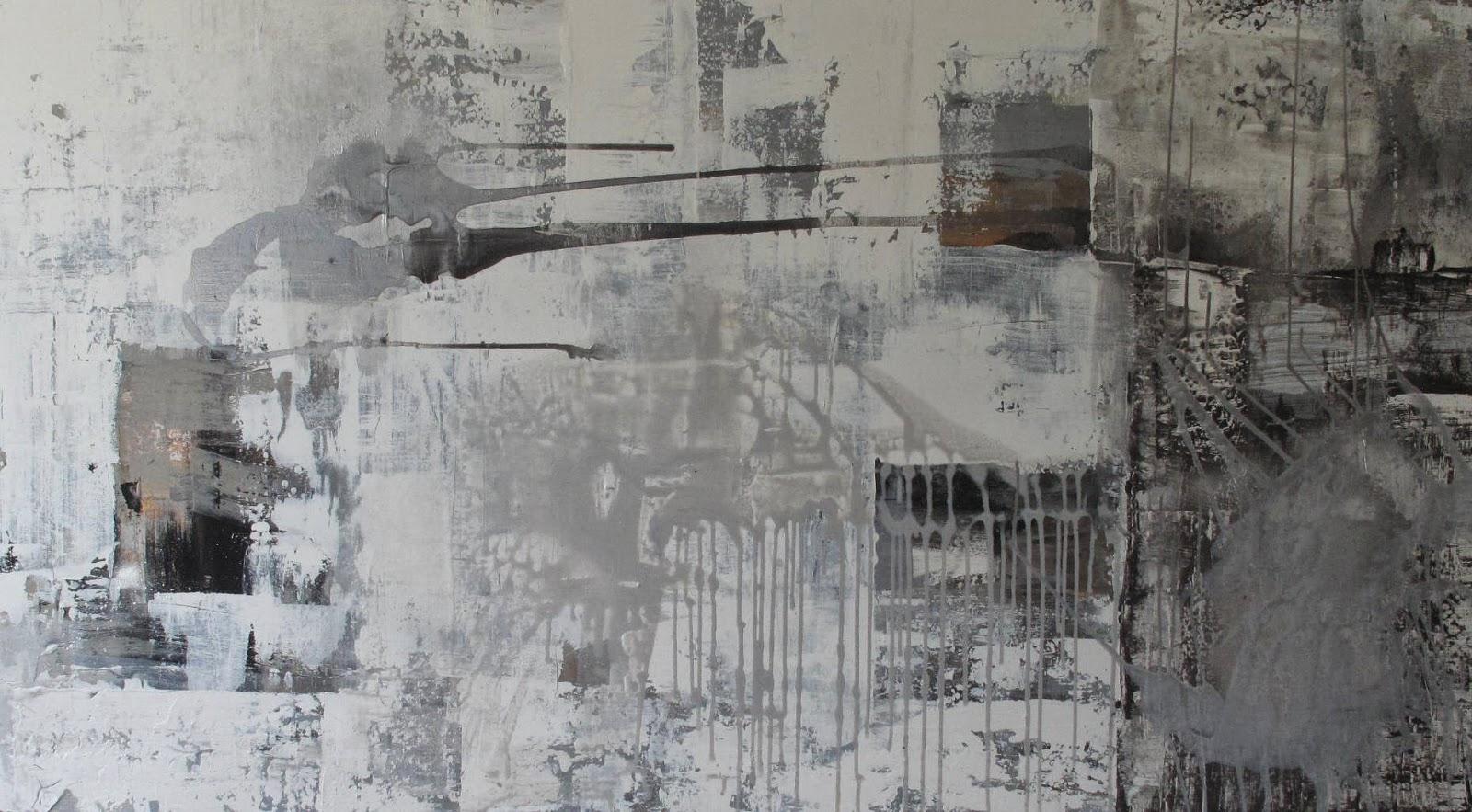Ekstra Line sine malerier: Til salgs: Grått og hvitt bilde 100x180 cm AM-69