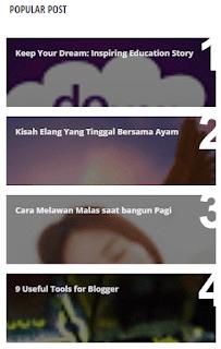 6 Widget Popular Posts Keren Untuk Blogger