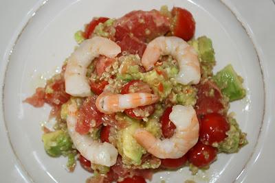 kriket 39 s cooking salade quinoa crevettes avocat pamplemousse. Black Bedroom Furniture Sets. Home Design Ideas