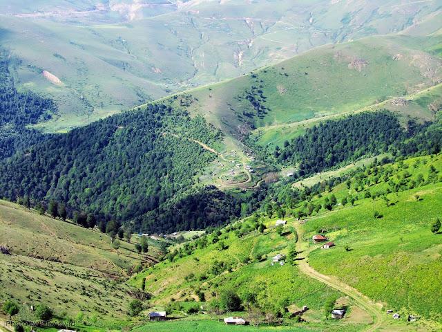 Paysages de forêts, Asalem, Iran