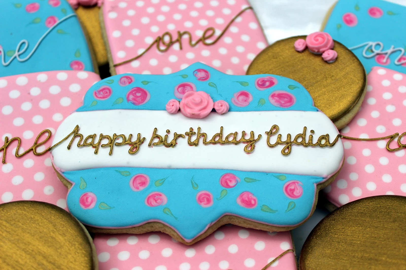 happy birthday lydia Sweet Melissa's Cookies: Happy Birthday Lydia!: Shabby Chic Cookies happy birthday lydia