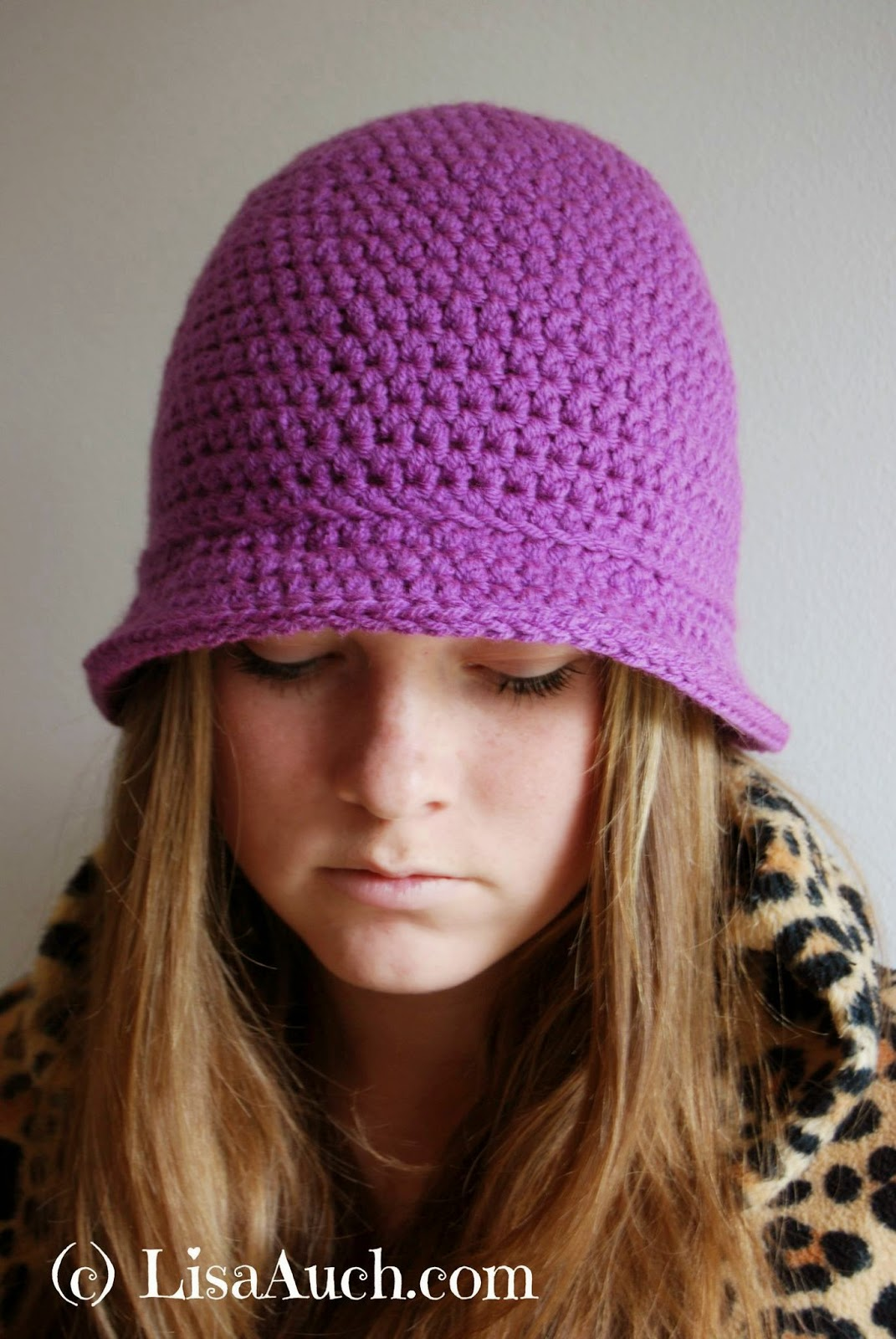 Womans Hat FREE Crochet Pattern Womans Bucket Hat in Half Double ...