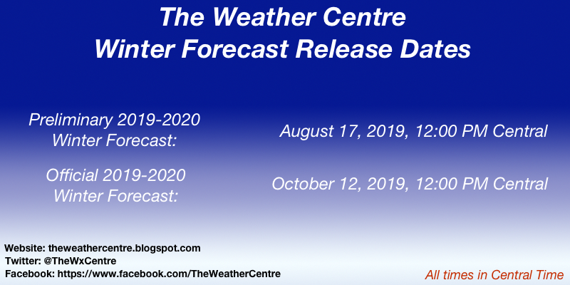 2019-2020 Winter Forecast Release Dates (Click for Full Info)