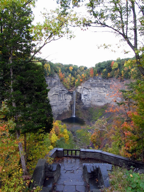 View of the Taughannock Falls from above