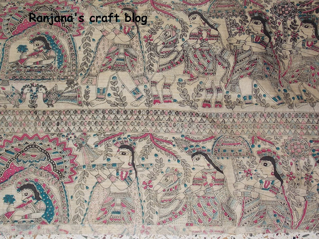 Madhubani painted cloth