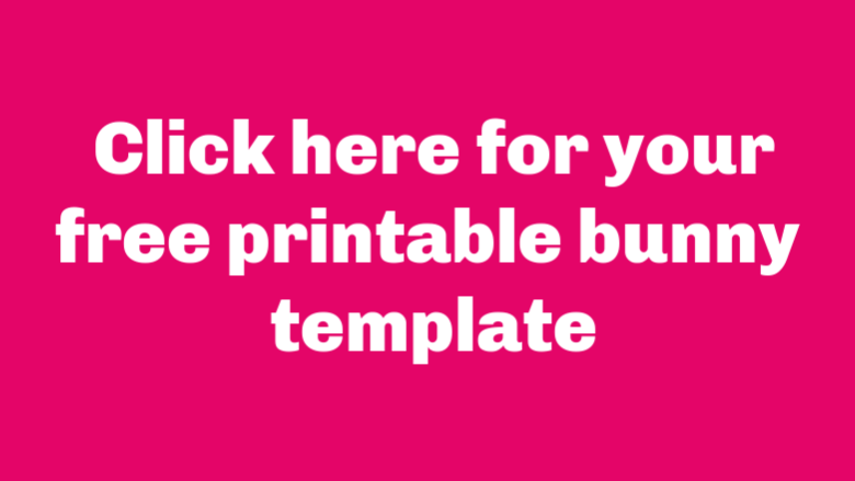 free printable bunny template