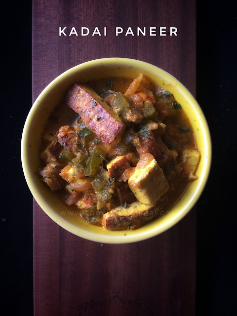 Kadai Paneer Recipe with homemade Kadai Masala powder