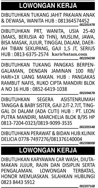 Lowongan Kerja Batam - jobsDB Indonesia (Halaman 1)