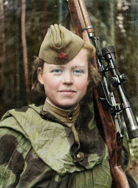 Nadezhda Kolesnikova Color photo World war II worldwartwo.filminspector.com